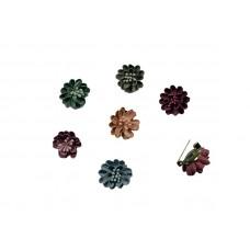 mini corsages set 6 stuks pastelkleuren