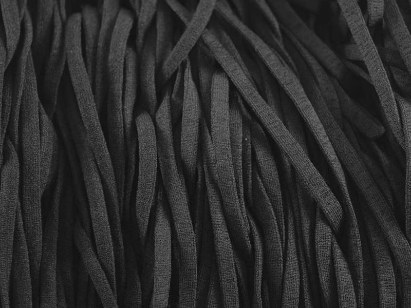 mondkapjes elastiek 4 mm zwart 1000 meter nylon spandex