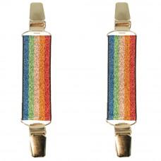 mouwophouders regenboog glitter