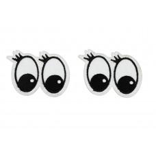 ogen met wimpers applicatie 2 stuks