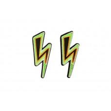 opstrijkbare applicatie bliksemflits groen 2 stuks