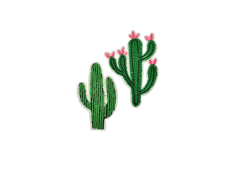 opstrijkbare cactus applicatie 2 stuks