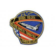 opstrijkbare embleem Space shuttle mission STS 9