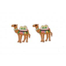 opstrijkbare kameel patch 2 stuks