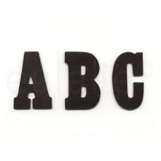 opstrijkbare letter vilt  zwart groot
