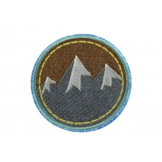 opstrijkbare patch bergen met sneeuw