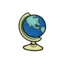 opstrijkbare patch wereldbol
