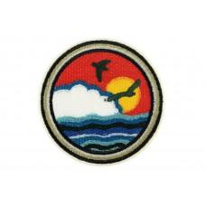 opstrijkbare patch zee zicht