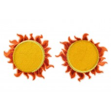 opstrijkbare patch zon 2 stuks