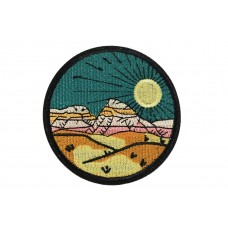 opstrijkbare patch zonnig landschap