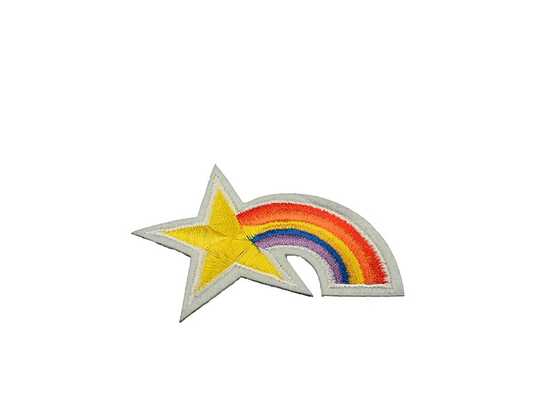 opstrijkbare regenboog ster