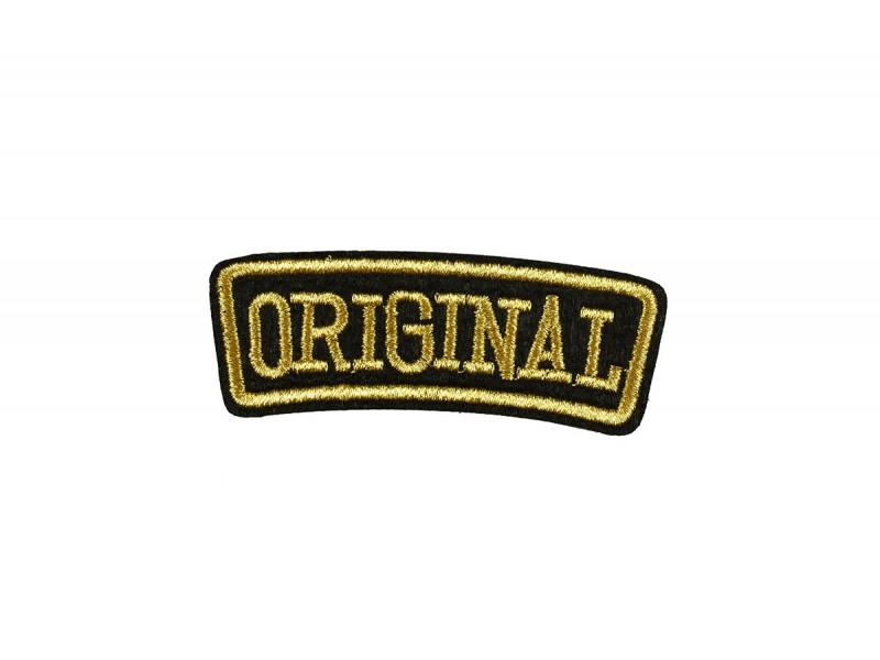original embleem opstrijkbaar goud