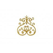 ornament applicatie goud geborduurd 10x9cm