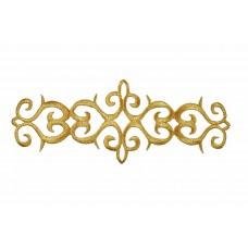 ornament applicatie goud geborduurd 19x7cm