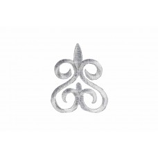 ornament applicatie zilver geborduurd 8x6,5cm