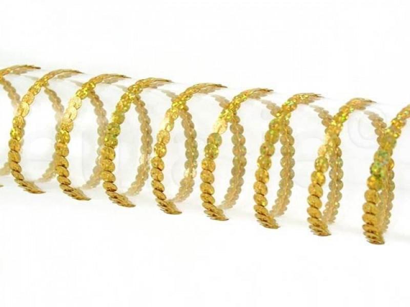 paillettenband 0.5 cm goud