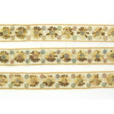 paillettenband gouden bloemen