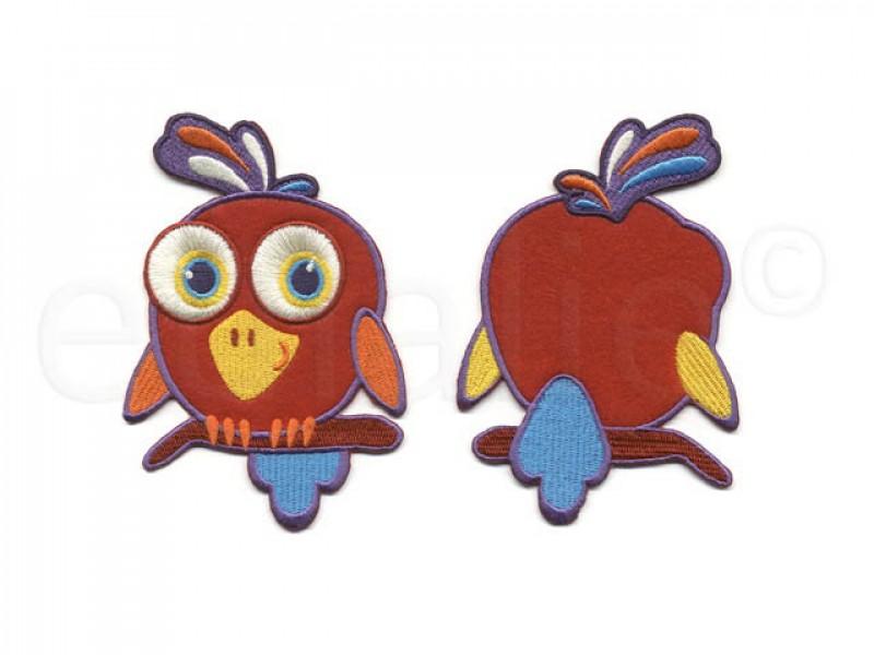 papegaai op stok front & back applicatie