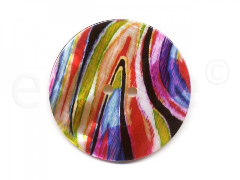 parelmoer knoop felle kleuren 5 cm