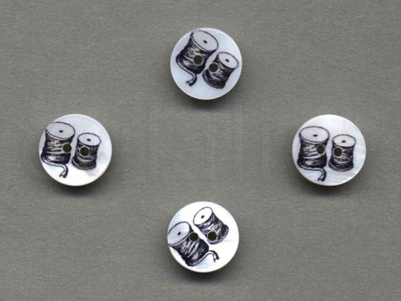 parelmoer knoop klosjes garen 1.5 cm