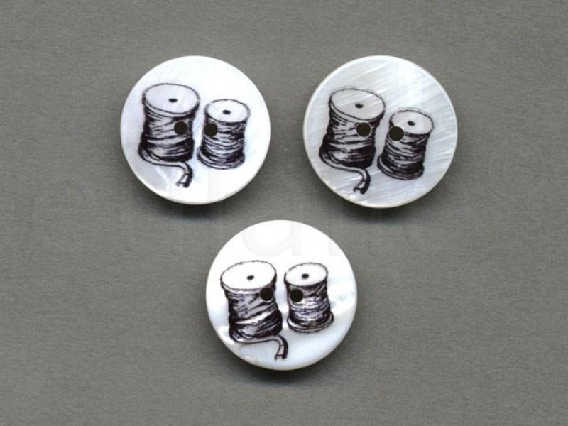 parelmoer knoop klosjes garen 2.2 cm