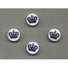 parelmoer knoop kroon 1.5 cm