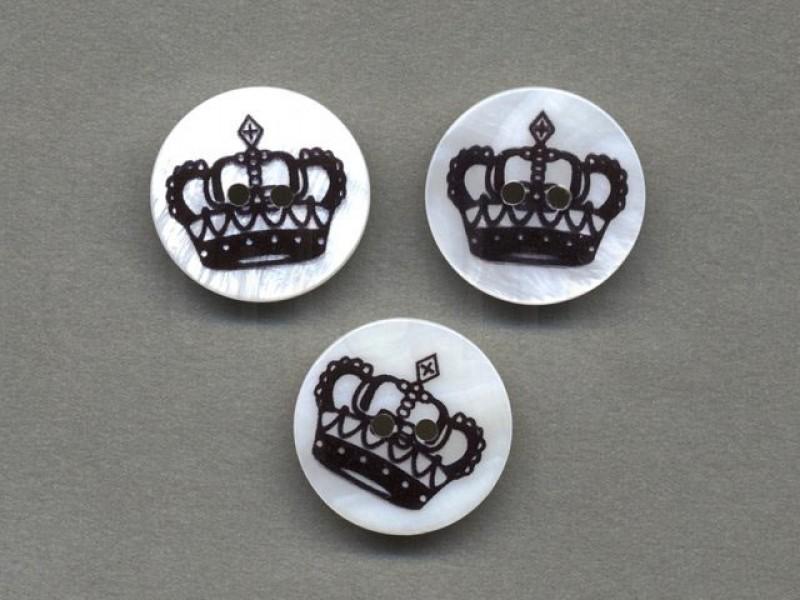 parelmoer knoop kroon 2.2 cm