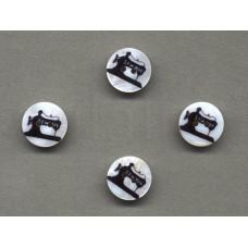 parelmoer knoop naaimachine 1.5 cm