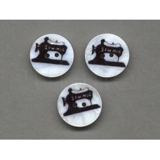 parelmoer knoop naaimachine 2.2 cm