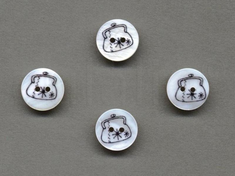 parelmoer knoop tasje 1.5 cm