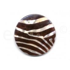 parelmoer knoop zebra print 5 cm