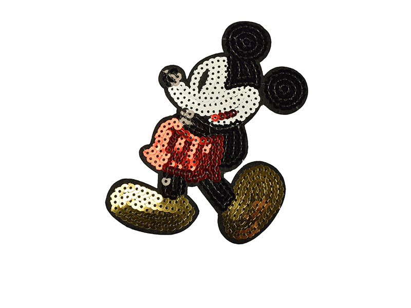 patch Mickey Mouse pailletten