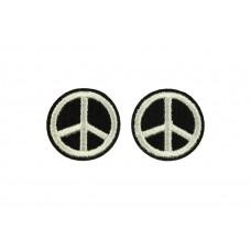 peace teken patch 2 stuks
