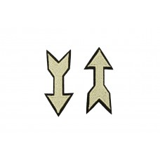 pijl symbool patch 2 stuks