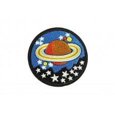 planeet met sterren applicatie