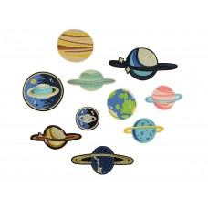 planeten applicatie set 10 stuks