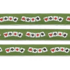 poker sierband groen