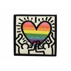 pop-art hart patch rainbow