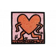 pop-art hart patch roze rood