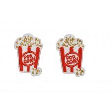 popcorn bekers applicatie opstrijkbaar 2 stuks