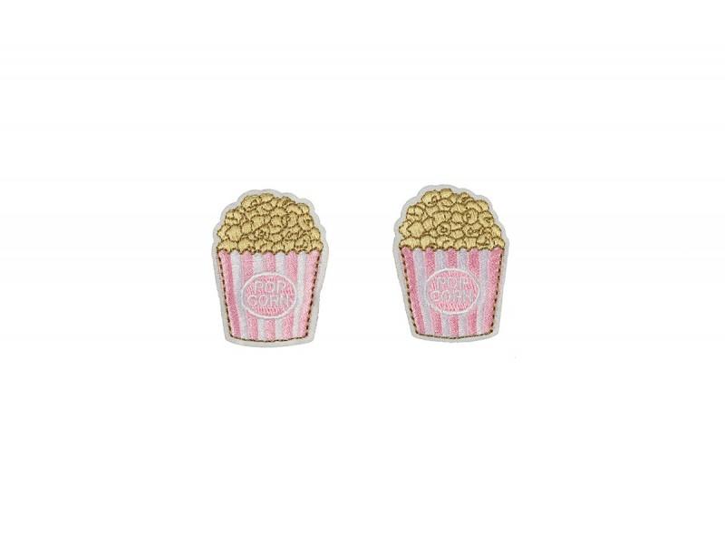 popcorn patch HD roze 2 stuks
