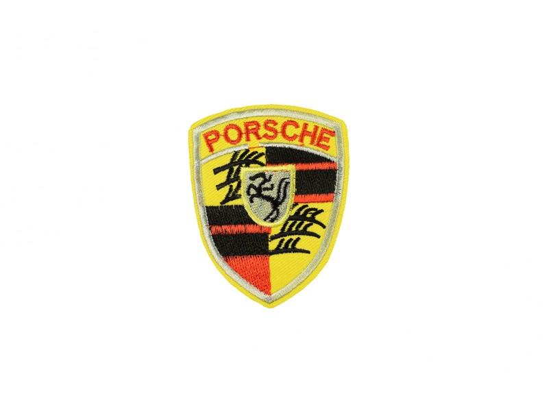 Porsche embleem geel opstrijkbaar