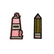 potlood en pink foam patch set
