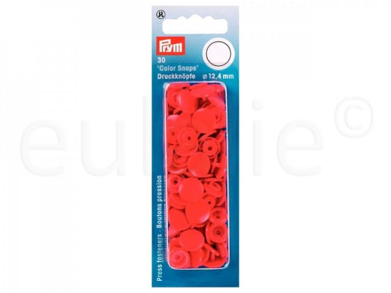 Prym Color Snaps drukknoop fel rood