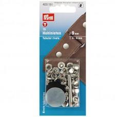holle nieten voor 4-6 mm materiaaldikte zilver