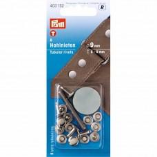 holle nieten voor 6-9 mm materiaaldikte zilver
