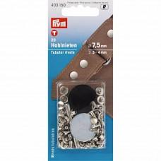holle nieten voor materiaaldikte 3-4 mm zilver