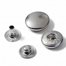 naaivrije drukknoop anorak 15mm navulling zilver