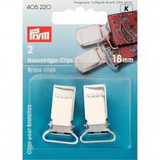 Prym  bretel clips 18mm zilver 2 stuks