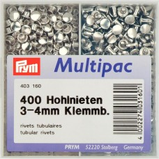 Prym holle nieten 3-4mm 400 stuks